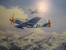 AIRCRAFT PRINT PAIR OF MUSTANGS
