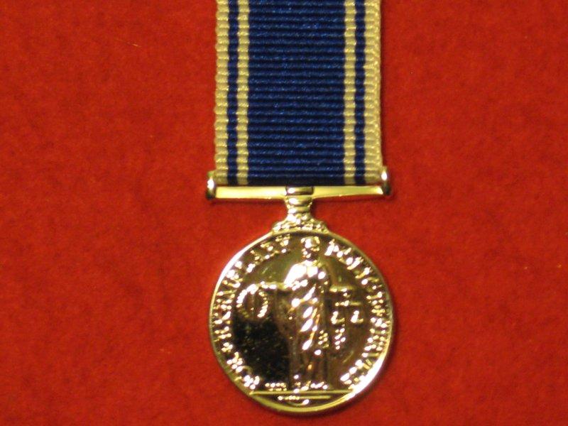 Miniature Police Lsgc Medal Exemplary Service Medal Eiir