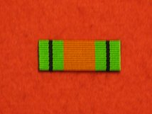 DEFENCE MEDAL WW2 RIBBON SEW ON BAR