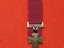 MINIATURE COURT MOUNTED VICTORIA CROSS MEDAL