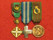 MINIATURE ITALY WW2 SET OF 3 MEDALS