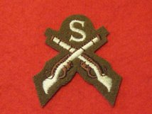 NUMBER 2 DRESS FAD CROSSED RIFLES SNIPER BADGE