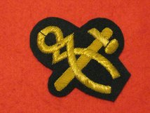 NUMBER 1 DRESS HAMMER AND TONGS GOLD ON BLACK BADGE