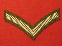 NUMBER 2 DRESS FAD 1 BAR LCPL CHEVRON ON FAD BROWN BADGE
