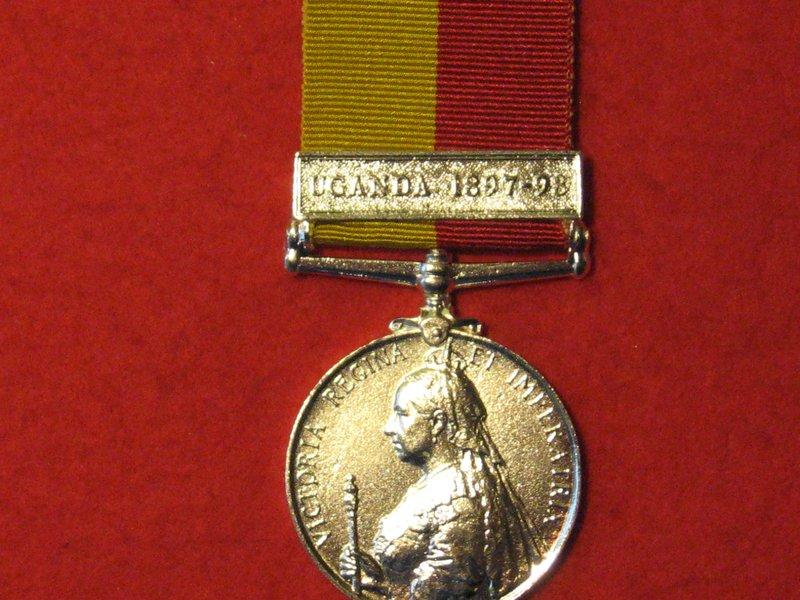FULL SIZE EAST AND CENTRAL AFRICA MEDAL WITH UGANDA 1897 98 CLASP