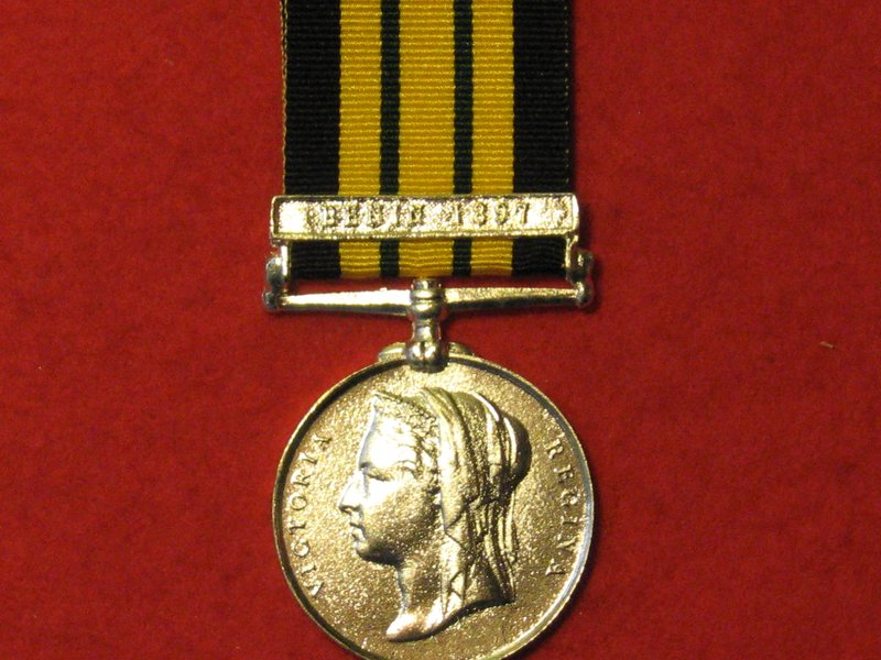 FULL SIZE EAST AND WEST AFRICA MEDAL WITH BENIN 1897 CLASP MUSEUM
