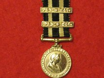 MINIATURE SERVICE MEDAL OF THE ORDER OF ST JOHN WITH 2 CLASPS CONTEMPORARY MEDAL GVF