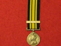 MINIATURE AFRICA GENERAL SERVICE MEDAL GV WITH S NIGERIA 1905 06 CONTEMPORARY MEDAL GF