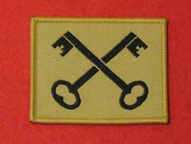 BRITISH ARMY 2ND INFANTRY DIVISION FORMATION BADGE CROSSED KEYS BUFF