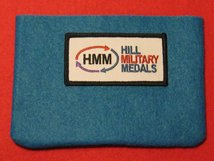 FULL SIZE MEDAL POUCH BRIGHT BLUE 3-4 MEDAL BAG