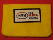 FULL SIZE MEDAL POUCH BRIGHT YELLOW 3-4 MEDAL BAG