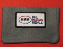 FULL SIZE MEDAL POUCH DARK GREY 3-4 MEDAL BAG