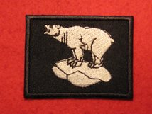 BRITISH ARMY 49TH INFANTRY BRIGADE EAST FORMATION BADGE WHITE POLAR BEAR BADGE