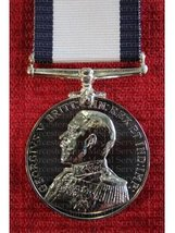 FULL SIZE CONSPICUOUS GALLANTRY MEDAL CGM GV GEORGE V REPLACEMENT MEDAL NAVY AND ARMY.