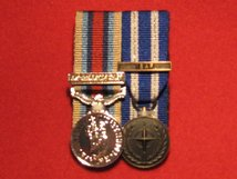 MINIATURE COURT MOUNTED OSM AFGHANISTAN WITH CLASP MEDAL AND NATO ISAF MEDAL