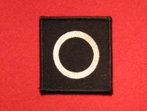 BRITISH ARMY 6TH INFANTRY DIVISION FORMATION BADGE WHITE CIRCLE ON BLACK