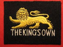 THE KINGS OWN BLAZER BADGE