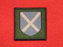 BRITISH ARMY 52ND LOWLAND BRIGADE FORMATION BADGE PRE 2002 BLUE SHIELD