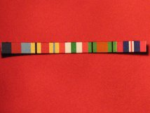 1939 45 STAR - AFRICA STAR - ITALY STAR - DEFENCE MEDAL - END OF WAR WW2 RIBBON SEW ON BAR