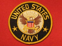 USA UNITED STATES NAVY CLOTH BADGE