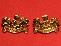 ROYAL REGIMENT OF SCOTLAND REGIMENT CEREMONIAL MILITARY COLLAR BADGES