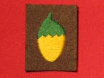 BRITISH ARMY 36TH INDEPENDENT INFANTRY BRIGADE FORMATION BADGE ACORN WW2 BADGE