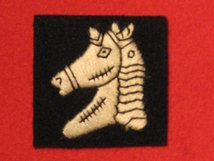 BRITISH ARMY 20TH ARMOURED BRIGADE FORMATION BADGE WW2 ZEBRA FACING LEFT