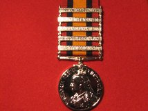 FULL SIZE QUEENS SOUTH AFRICA MEDAL QSA WITH 5 CLASPS REPLACEMENT MEDAL