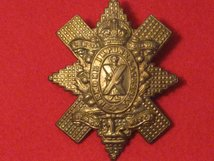 BLACK WATCH METAL CAP BADGE KC