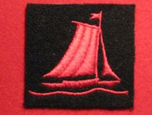 BRITISH ARMY 76TH INFANTRY DIVISION FORMATION BADGE WW2 YACHT RIGHT FACING RF