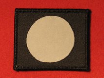 BRITISH ARMY 7TH INFANTRY DIVISION FORMATION BADGE WW2 WHITE CIRCLE IN BLACK SQUARE