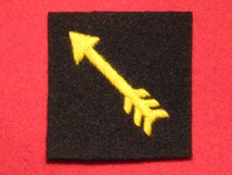BRITISH ARMY 7TH INDIAN DIVISION FORMATION BADGE WW2 YELLOW GOLD ARROW