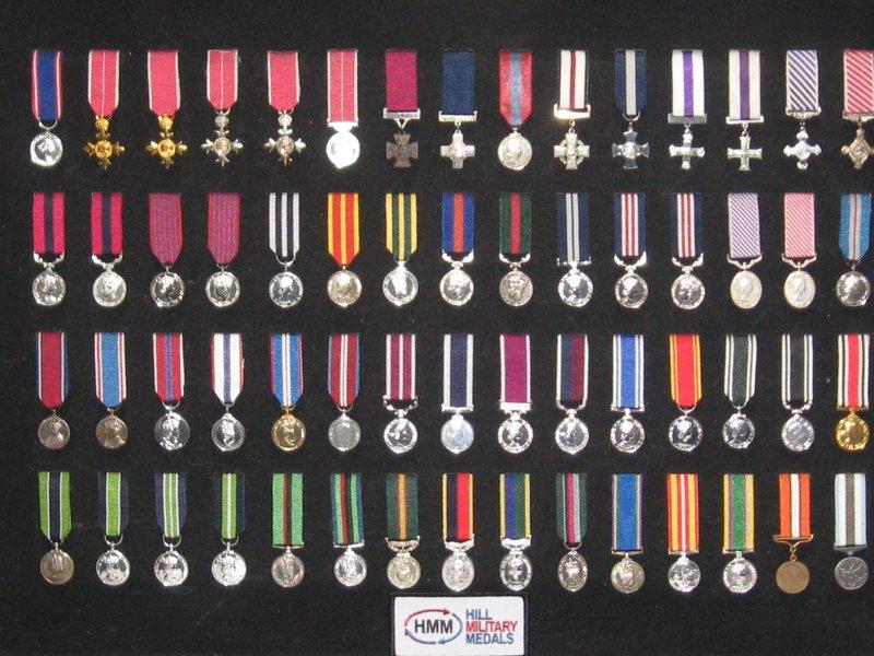 Miniature Medal Set 2 British Orders Decorations Gallantry