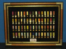 MINIATURE MEDAL SET 1 BRITISH CAMPAIGN MEDALS 1815 TO 2015 200 YEARS 60 MEDALS AND FRAME