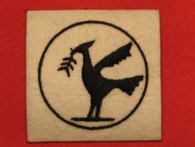 BRITISH ARMY 23RD ARMOURED BRIGADE FORMATION BADGE WW2 LIVER BIRD LEFT FACING