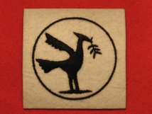 BRITISH ARMY 23RD ARMOURED BRIGADE FORMATION BADGE WW2 LIVER BIRD RIGHT FACING