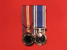 MINIATURE COURT MOUNTED DIAMOND JUBILEE AND POLICE LSGC MEDAL EIIR