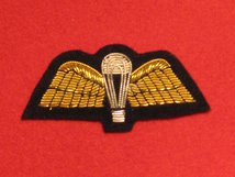 MESS DRESS PARACHUTE WINGS PARA WINGS GOLD ON BLACK BADGE