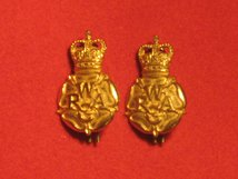 WRAC WOMENS ROYAL ARMY CORPS METAL MILITARY COLLAR BADGES