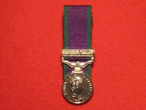 MINIATURE COURT MOUNTED GSM MEDAL NORTHERN IRELAND CLASP MEDAL