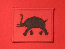 BRITISH ARMY 4 CORPS FORMATION BADGE WW2 ELEPHANT ON RED BADGE