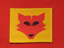 BRITISH ARMY 10TH ARMOURED DIVISION FORMATION BADGE WW2 FOX HEAD 1ST TYPE
