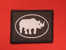 BRITISH ARMY 1ST ARMOURED DIVISION FORMATION BADGE WW2 WHITE RHINO
