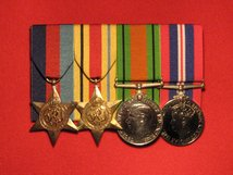 FULL SIZE COURT MOUNTED ORIGINAL WORLD WAR 2 SET OF 4 MEDALS 1939 45 STAR AFRICA STAR DEFENCE MEDAL WAR MEDAL