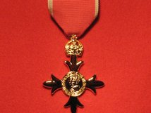 FULL SIZE OBE CIVIL MEDAL REPLACEMENT MEDAL