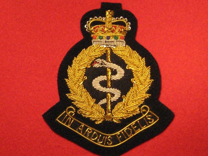 ROYAL ARMY MEDICAL CORPS RAMC BULLION WIRE BLAZER BADGE