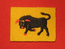 BRITISH ARMY 11TH ARMOURED DIVISION FORMATION BADGE WW2 CHARGING BLACK BULL LEFT FACING