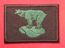BRITISH ARMY 49TH INFANTRY DIVISION WEST RIDING FORMATION BADGE WW2 GREEN POLAR BEAR BADGE