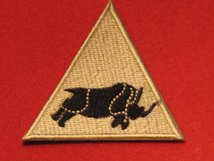 BRITISH ARMY 1 UK ARMOURED DIVISION FORMATION BADGE RHINO BUFF