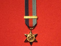 MINIATURE 1939 1945 STAR MEDAL WITH BATTLE OF BRITAIN CLASP